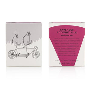 Load image into Gallery viewer, MEOW MEOW TWEET | Lavender Coconut Milk Shampoo Bar