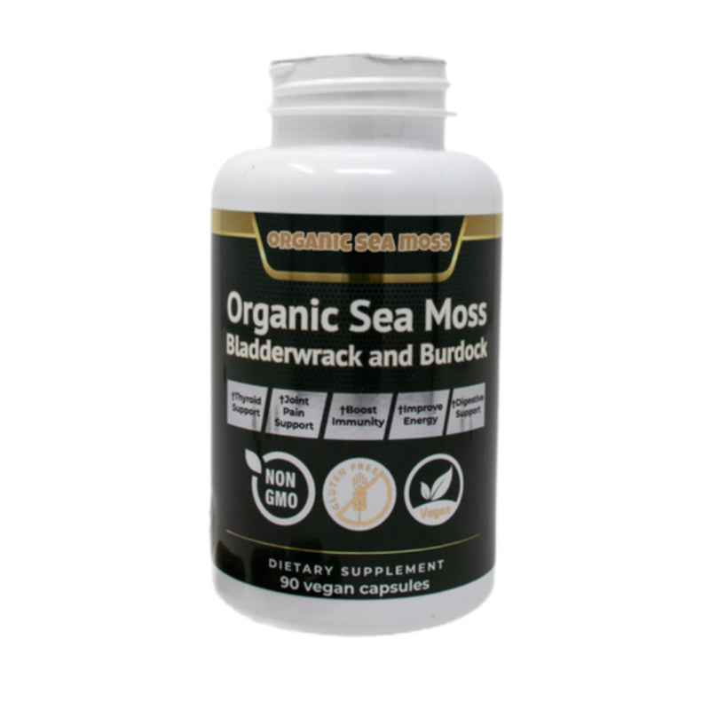 Organic Sea Moss | Organic Sea Moss With Bladderwrack and Burdock Root