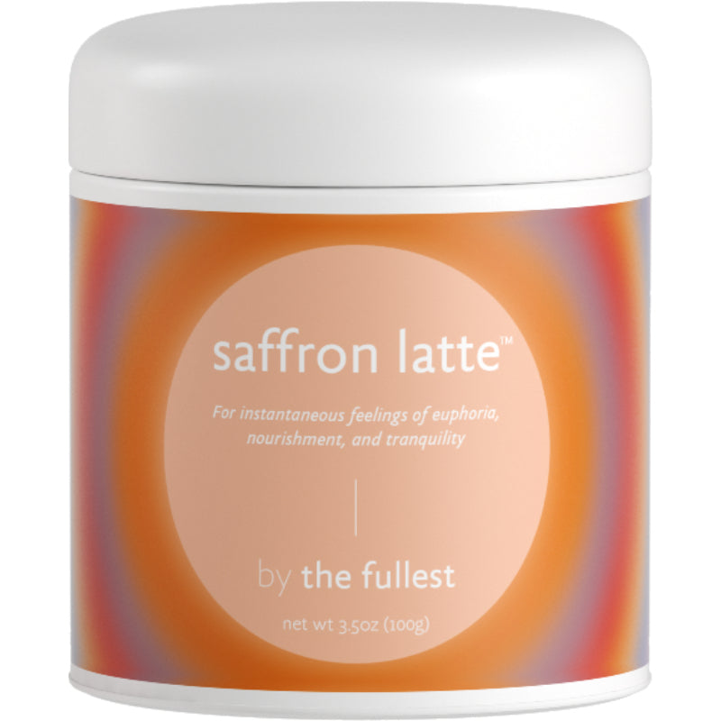Organic and Vegan Saffron Latte by The Fullest
