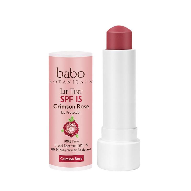 Sun Block Chapstick Organic Lip Tints Crimson Rose
