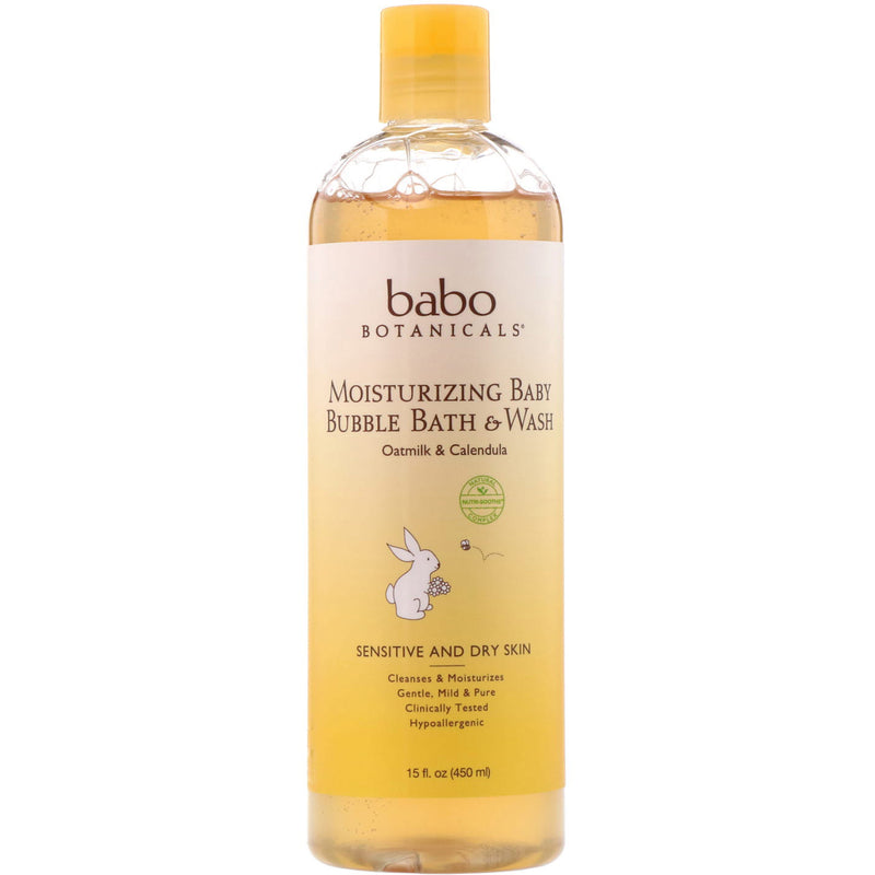 Babo Botanicals Moisturizing Baby Bubble Bath & Wash