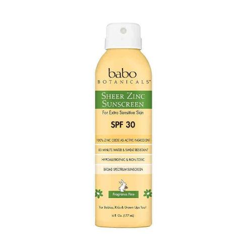 BABO BOTANICALS | Sheer Zinc Continuous Spray Sunscreen SPF 30