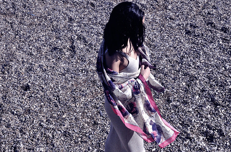 The Howl Unique Silk/cotton Scarf from Viaggi By Jase King