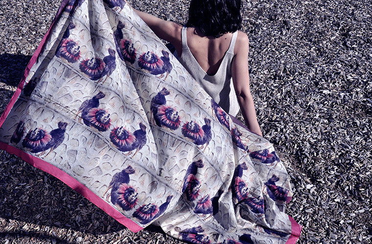 The Howl Extra Large Silk/cotton Scarf from Viaggi By Jase King