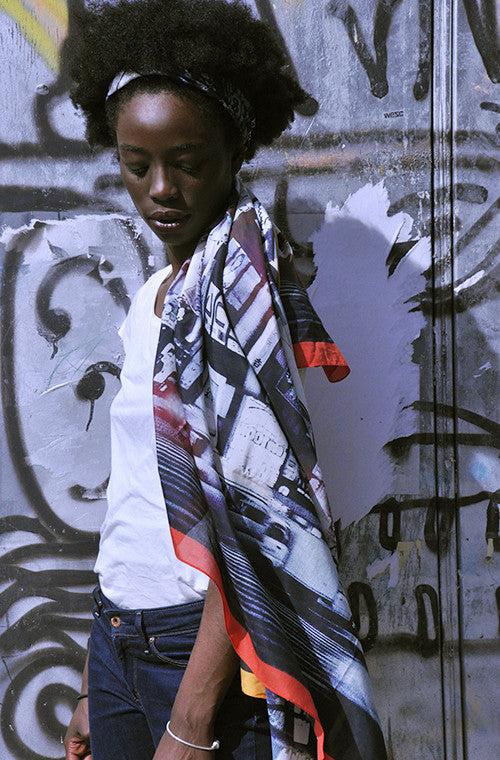 Tokyo Pulse Cotton/Silk Extra Large Scarf from Viaggi By Jase King