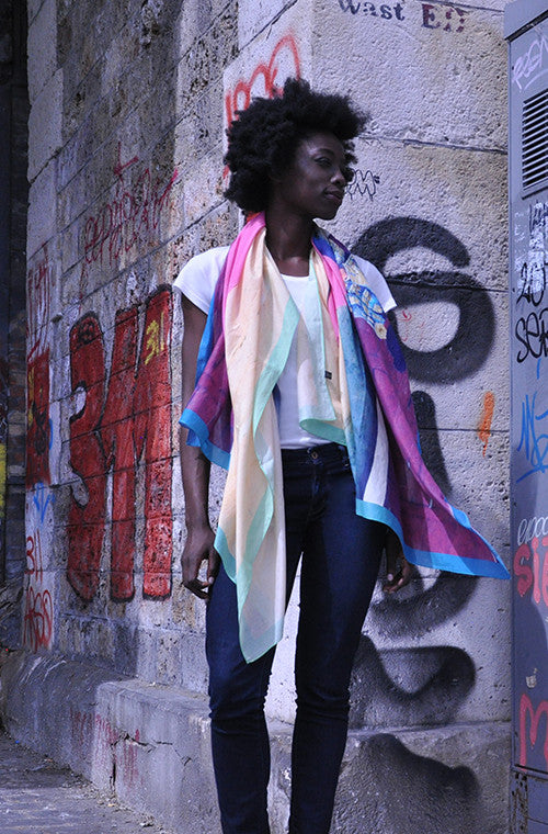 The Toreadors Cotton/Silk Extra Large Scarves from Viaggi By Jase King