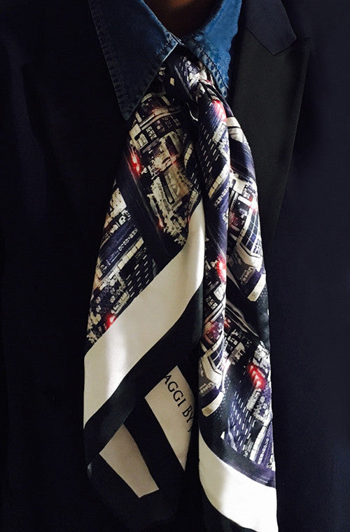 Tokyo Pulse Populous 100% Silk Scarf from Viaggi By Jase King