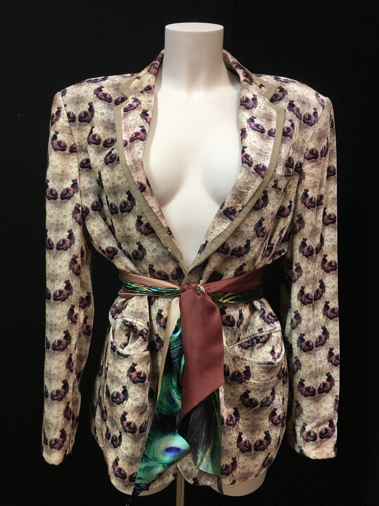 Peacock Paradise 100% Silk Scarf and The Howl Velvet Jacket from Viaggi By Jase King