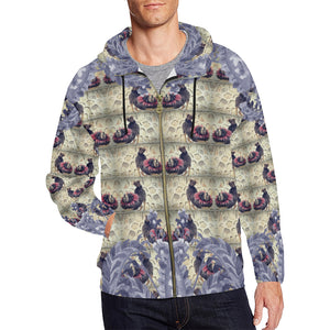 The Howl Zip Hoodie, Zip Hoodie - Viaggi By Jase King
