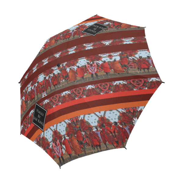 Jumping with Maasai Umbrella, Semi-Automatic Foldable Umbrella - Viaggi By Jase King