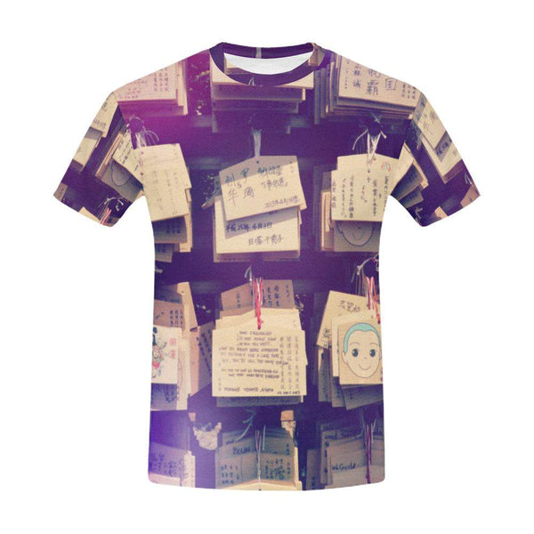 Ema / Full Print T-shirt, Crew Neck Fully Printed Tee - Viaggi By Jase King