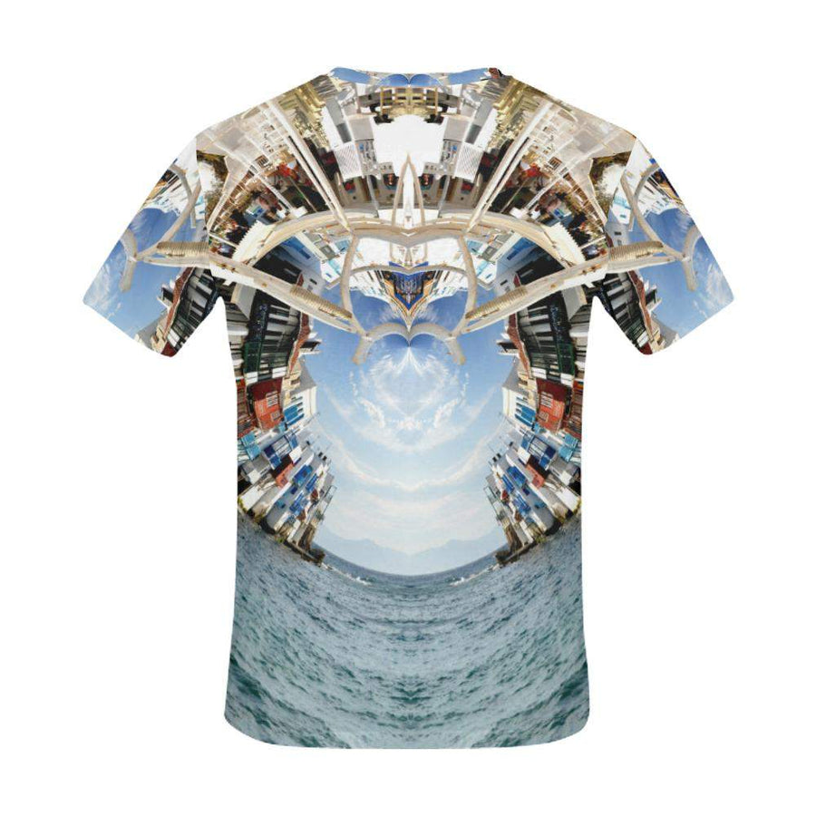 Beckoning Wonder / Full Print T-shirt, Crew Neck Fully Printed Tee - Viaggi By Jase King