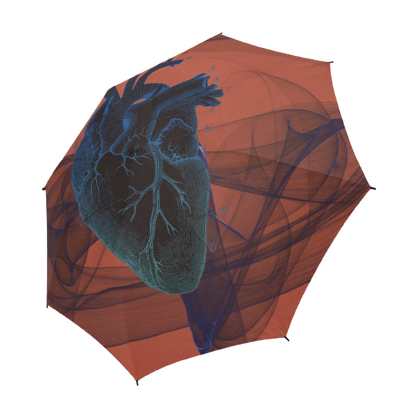 I HEART Umbrella, Semi-Automatic Foldable Umbrella - Viaggi By Jase King
