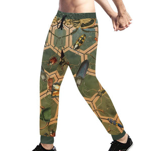 Bug Me Boo ( Green Tiled ) Sweatpants, Sweatpants - Viaggi By Jase King