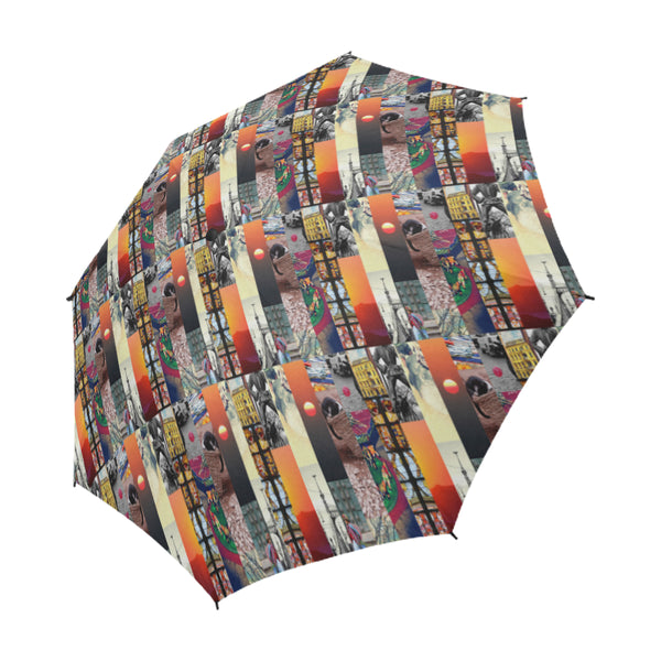Wanderlust Umbrella, Semi-Automatic Foldable Umbrella - Viaggi By Jase King