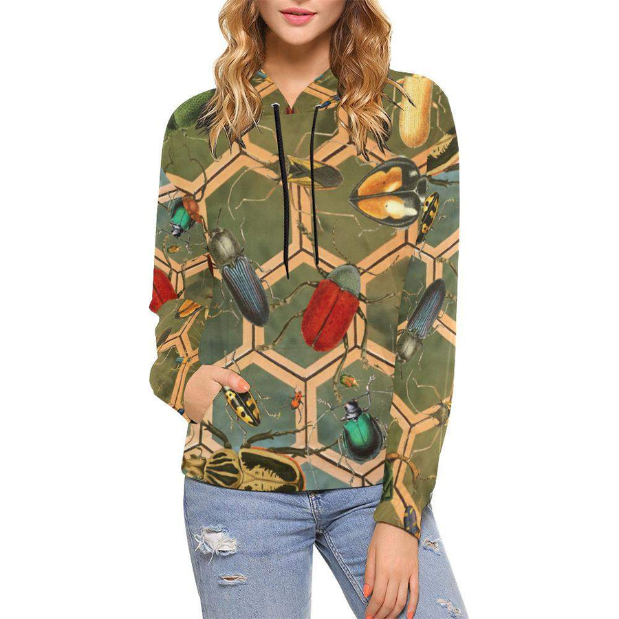 Bug Me Boo ( Green Tiled ) Hoodie, Unisex Hoodie - Viaggi By Jase King