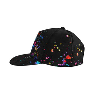 Splatter Paint Snapback Cap, snapback caps - Viaggi By Jase King