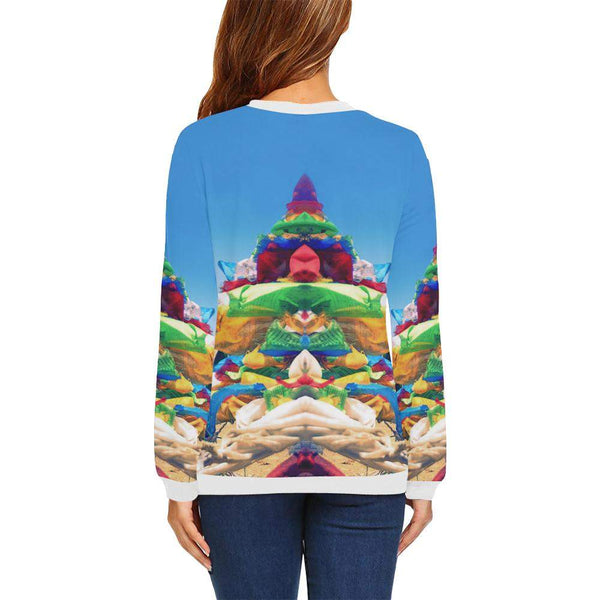 Tibetan Dreams Boxy Cut Sweater, Crewneck Sweatshirt - Viaggi By Jase King