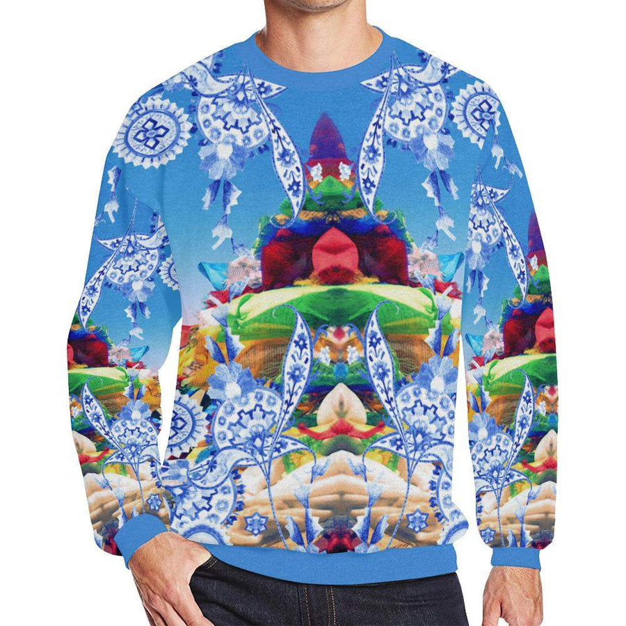 Tibetan Dreams ( Daze ) Fleece Sweater, Fleece Crewneck Sweaters - Viaggi By Jase King