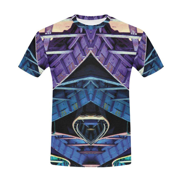 Kaleidoscope / Full Print T-Shirt, Crew Neck Fully Printed Tee - Viaggi By Jase King