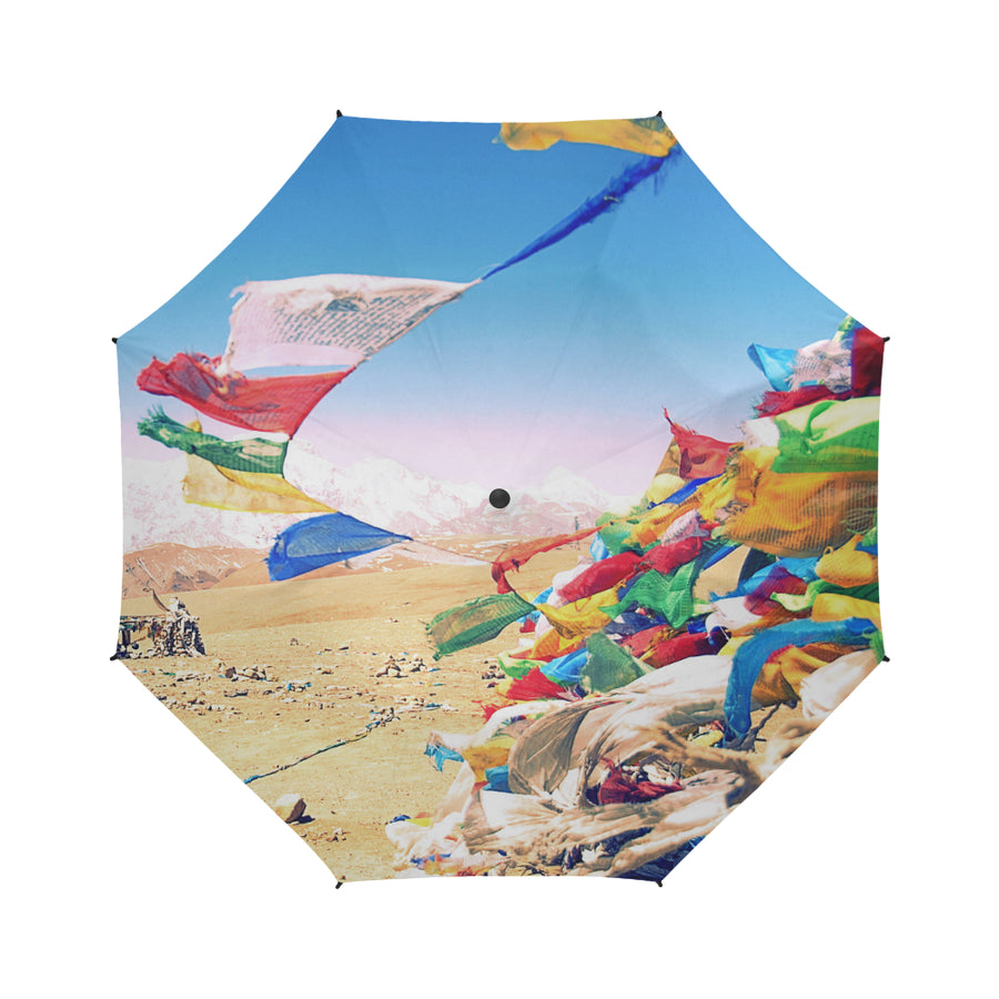 Tibetan Dreams Umbrella, Semi-Automatic Foldable Umbrella - Viaggi By Jase King