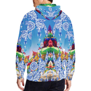 Tibetan Dreams ( Daze ) Zip Hoodie, Zip Hoodie - Viaggi By Jase King