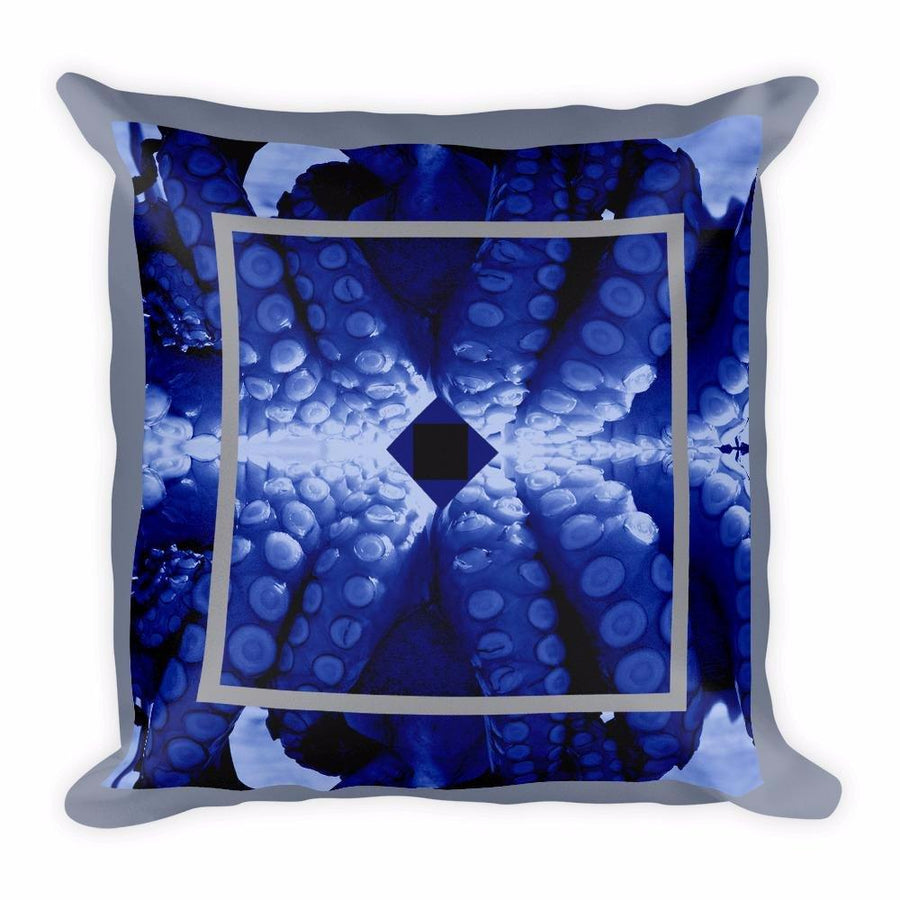 Blue Octopus Cushion Cover / Mantle, Cushion Covers - Viaggi By Jase King