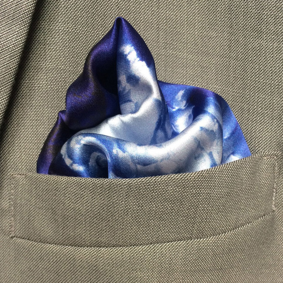 Blue Octopus Pocket Square, pocket squares - Viaggi By Jase King