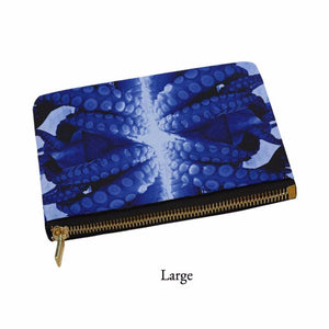 Blue Octopus Pouch, Carry-All Pouch - Viaggi By Jase King