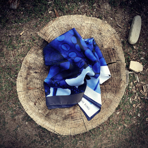 Blue Octopus Signature Scarf, Signature Scarves - Viaggi By Jase King