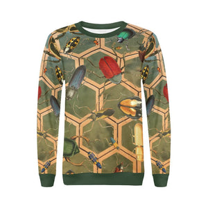 Bug Me Boo ( Green Tiled ) Boxy Cut Sweater, Crewneck Sweatshirt - Viaggi By Jase King