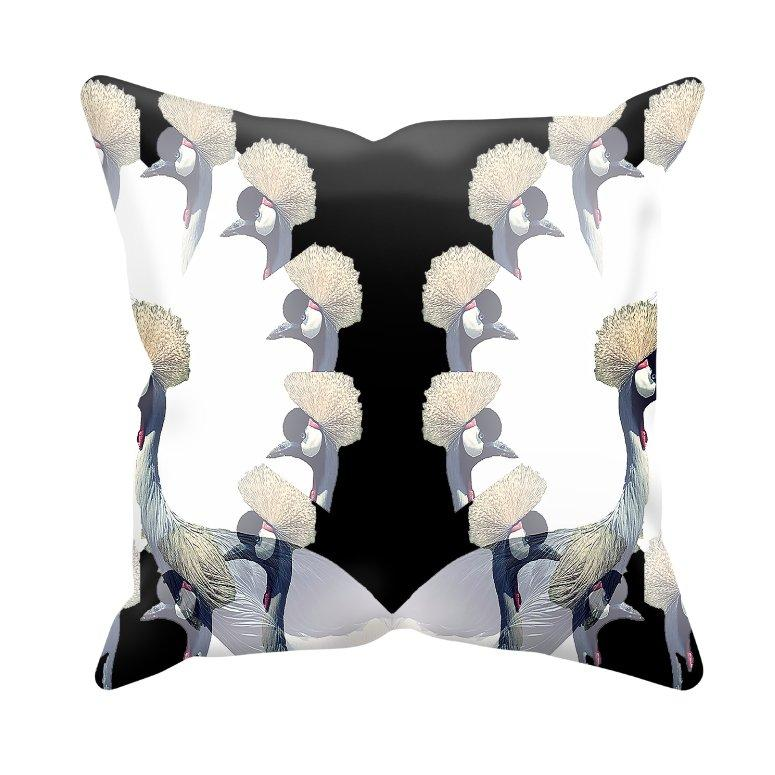 Crowned Crane Cushion Cover / Daru, Cushion Covers - Viaggi By Jase King