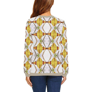 Om Mani Padme Hum Boxy Cut Sweater, Crewneck Sweatshirt - Viaggi By Jase King