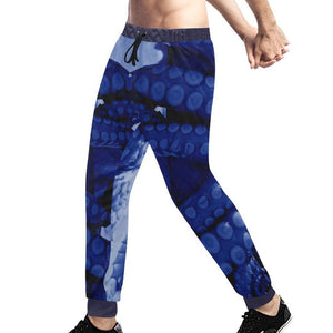 Blue Octopus ( Mantle ) Sweatpants, Sweatpants - Viaggi By Jase King