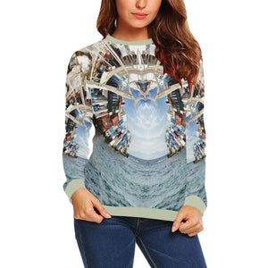 Beckoning Wonder Boxy Cut Sweater, Crewneck Sweatshirt - Viaggi By Jase King