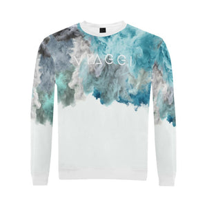 Humo Azul ( Dove ) Boxy Cut Sweater, Crewneck Sweatshirt - Viaggi By Jase King