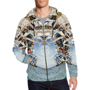 Beckoning Wonder Zip Hoodie, Zip Hoodie - Viaggi By Jase King