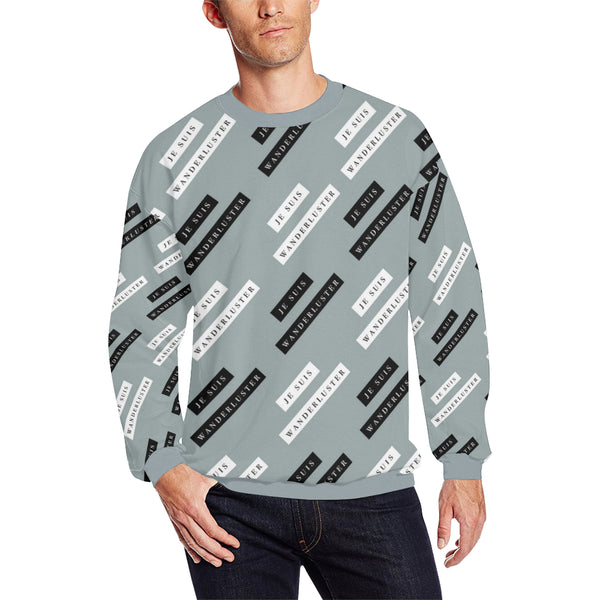 Je Suis Wanderluster Fleece Sweater, Fleece Crewneck Sweaters - Viaggi By Jase King