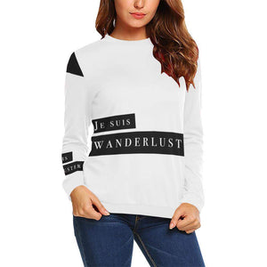 Je Suis Wanderluster Boxy Cut Sweater, Crewneck Sweatshirt - Viaggi By Jase King