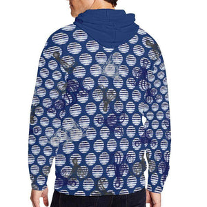 Blue Octopus ( Gonad ) Zip Hoodie, Zip Hoodie - Viaggi By Jase King