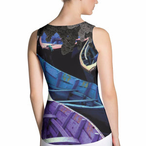 Kaleidoscope Fitted Tank Top, Fitted Tank Tops - Viaggi By Jase King