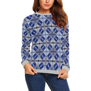 Blue Octopus ( Siphon ) Boxy Cut Sweater, Crewneck Sweatshirt - Viaggi By Jase King