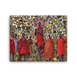 High On Maasai / Canvas Print, Canvas Prints - Viaggi By Jase King