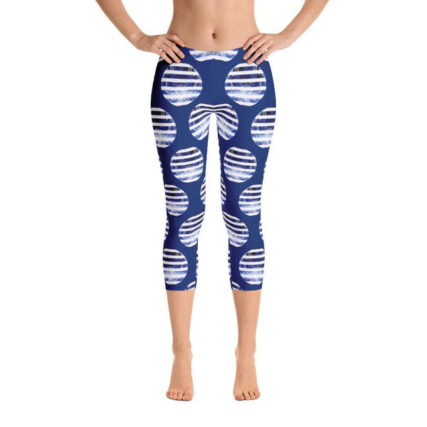 Blue Octopus Capri Leggings, Capri Leggings - Viaggi By Jase King