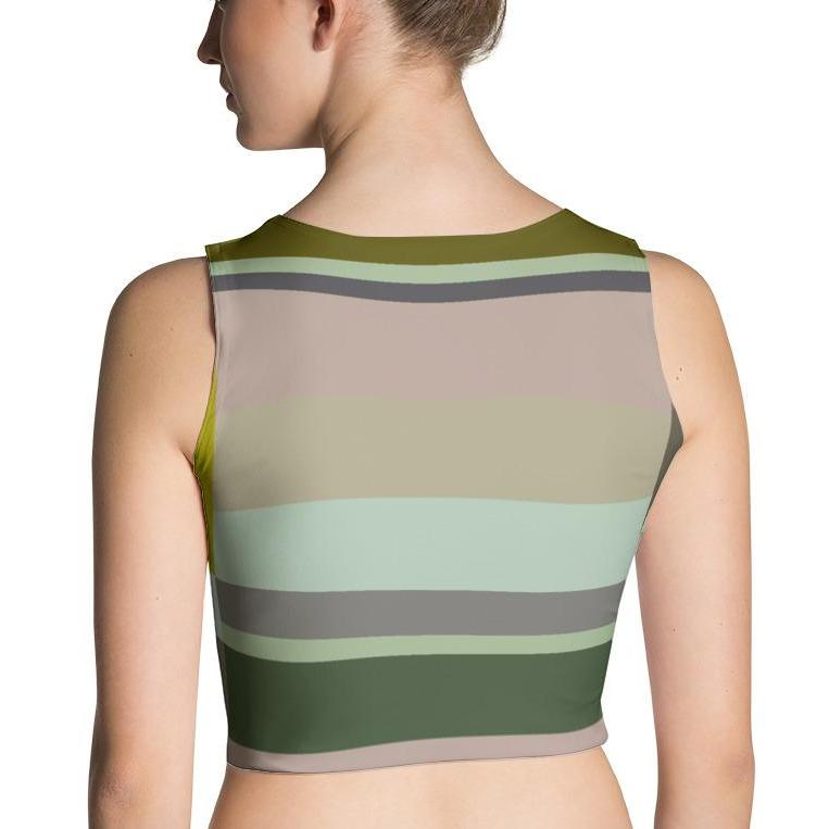 La Maison Fitted Crop Top, Sublimation Crop Top - Viaggi By Jase King