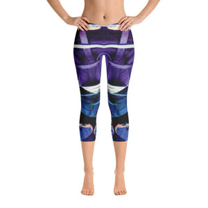 Kaleidoscope Capri Leggings, Capri Leggings - Viaggi By Jase King