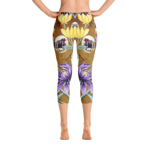 Yak Away Capri Leggings, Capri Leggings - Viaggi By Jase King
