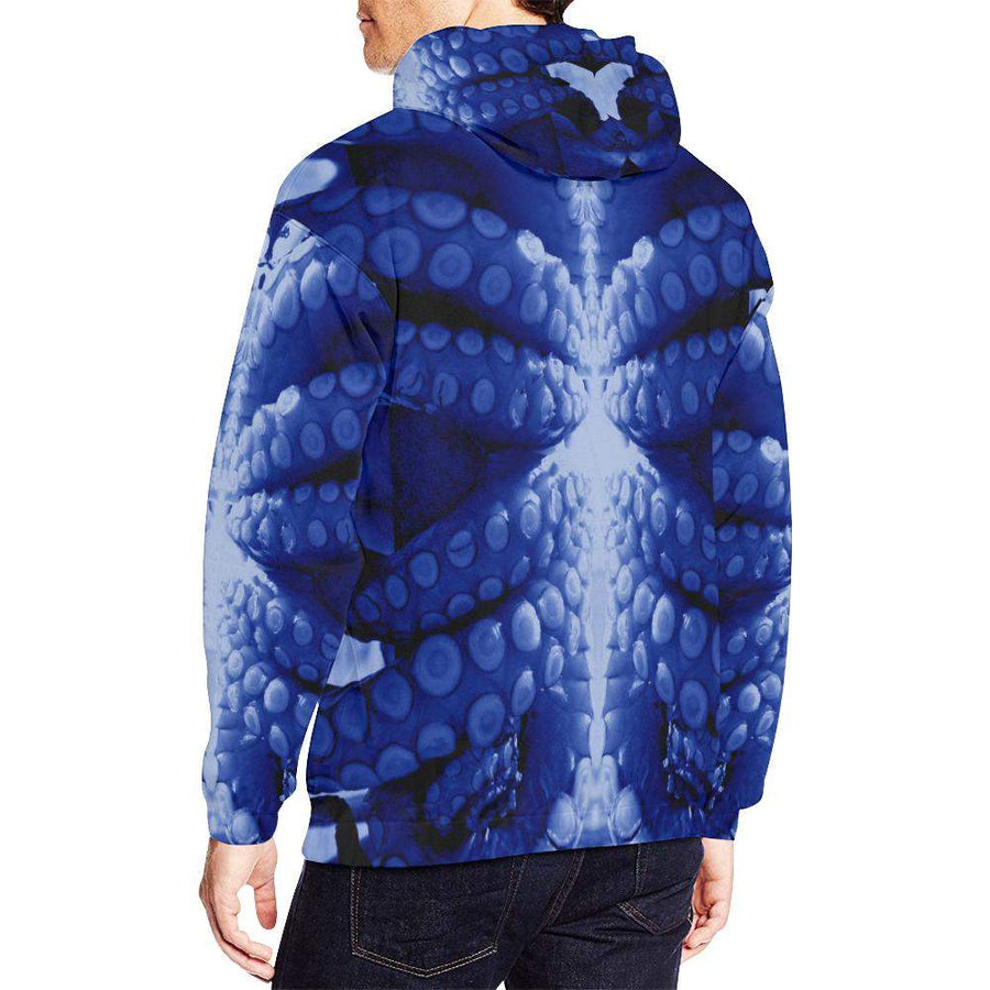 Blue Octopus ( Mantle ) Hoodie, Unisex Hoodie - Viaggi By Jase King