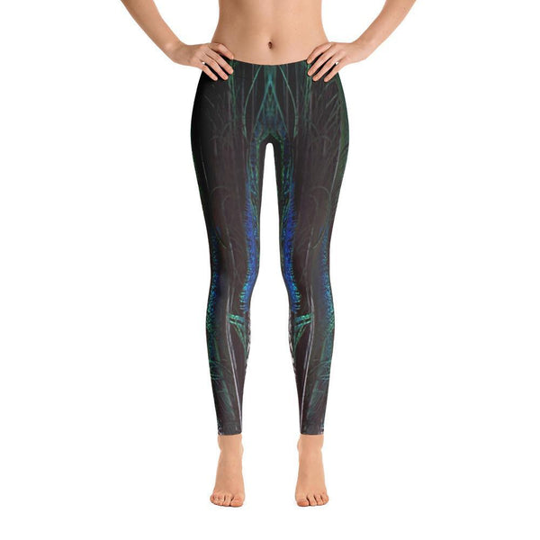 Peacock Paradise Leggings, Leggings - Viaggi By Jase King