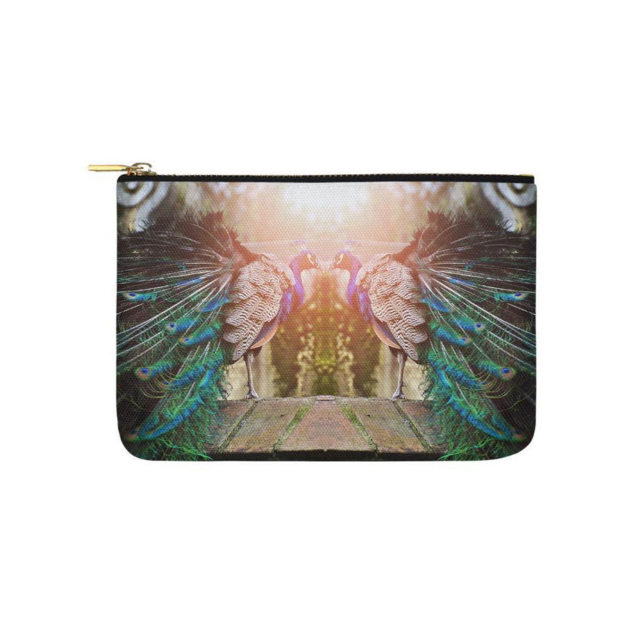 Peacock Paradise Pouch, Carry-All Pouch - Viaggi By Jase King